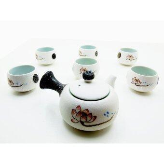 ชุดชงชา แบบดั้งเดิม ดินเผา ลายธรรมชาติ
