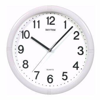 RHYTHM Japan นาฬิกาแขวนพลาสติก เครื่องเดินเรียบไร้เสียงรบกวน ขนาด 10 นิ้ว รุ่น CMG434NR03