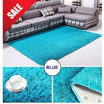 พรมปูพื้นห้อง LoveCapet สีฟ้า ขนยาว 4.5 cm ขนาด 120X160 cm