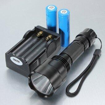 โอ้ 1800ลูเมน C8 xM-L T6 LED โคมไฟฉาย 18650 แบตเตอรี่/ชาร์จใหม่