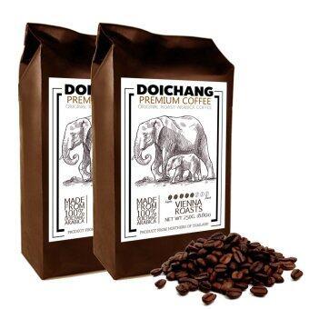 DoiChang Premium Coffee เมล็ดกาแฟดอยช้าง อาราบิก้า คั่วกลาง (2ถุง - 500g.)