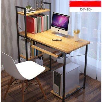 โต๊ะคอมพิวเตอร์ ขนาด 1.0 เมตร รุ่นมีต่อข้าง Loft Style โครงดำ