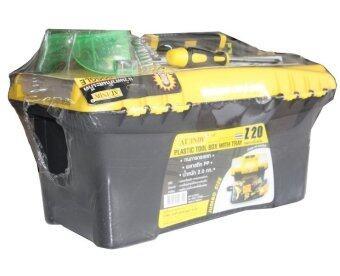 AT INDY กล่องเครื่องมือช่างพร้อมอุปกรณ์ 9 ชนิด (สีดำ)