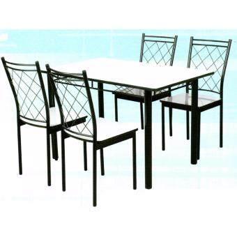 Asia ชุดโต๊ะกินข้าวโฟเมก้า 4 ฟุต + เก้าอี้โฟเมก้า 4 ตัว