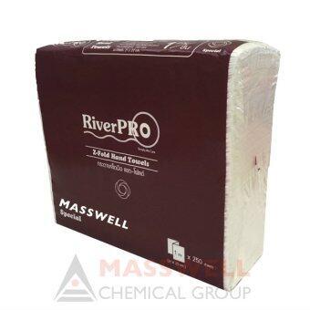 ขายยกลัง RiverPro กระดาษเช็ดมือสีขาว รุ่น Z-Fold (16 แพ็ค)