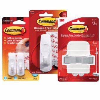 คอมมานด์ 3M ตะขออเนกประสงค์แพ๊คประหยัด 3 ขนาด Command 17002/ 17003/ 17007