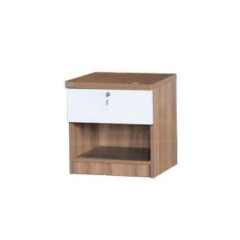 RF Furniture ตู้ข้างเตียง ( BS0402 ) สีคาปูชิโน่/ขาว