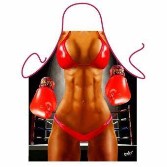 iCooker ผ้ากันเปื้อนแฟนซี Sexy Boxing kp-020