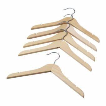 ไม้แขวนเสื้อโค้ตเด็ก, สีเนเชอรัล, แฮงง่า (5 ชิ้น)
