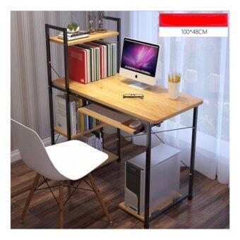 Asia โต๊ะคอมพิวเตอร์ ขนาด 1.0 เมตร รุ่นมีต่อข้าง Loft Style โครงดำ