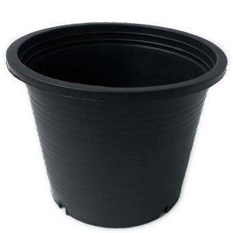 papamami Pots Round Black Plastic กระถางพลาสติกกลม 17นิ้ว 10ใบ (สีดำ)