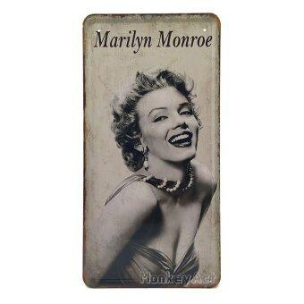 ป้ายสังกะสีวินเทจ Marilyn Monroe, ขนาด 30x15 ซม