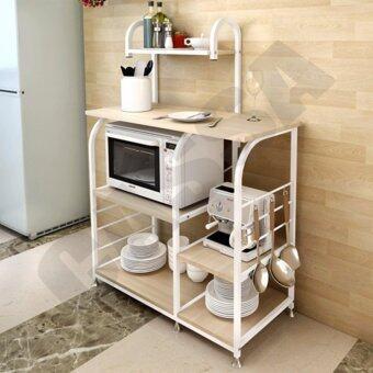 CASSA โต๊ะบาร์ พร้อมชั้นวางของ ประหยัดพื้นที่ ในห้องครัว รุ่น 217-W6-YW