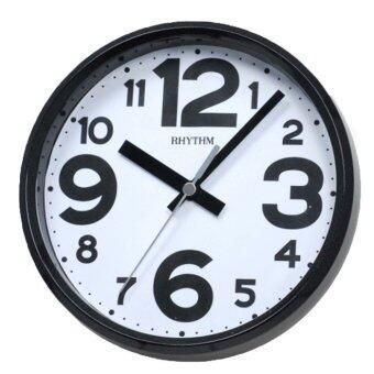 RHYTHM นาฬิกาแขวนผนัง พร้อมขาตั้งโต๊ะ รุ่น CMG890GR02 สีดำ/ขาว