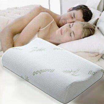 DaisiBamboo Memory Foam หมอนหนุน หมอนสุขภาพ หลับสบายเต็มตื่น ผ้าปูที่นอนDaisi0149ขาว