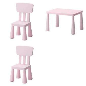 โต๊ะเด็ก เก้าอี้เด็ก ชุดเฟอร์นิเจอร์เด็กเล็ก เซทโต๊ะเก้าอี้เด็ก โต๊ะกิจกรรมเด็กเล็ก สีชมพู Happy-T