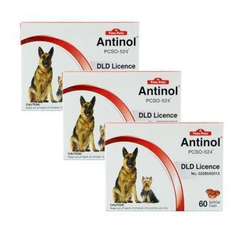 VetzPetz® Antinol Soft Gel Caps ขนาด 60 เม็ด x 3 กล่อง
