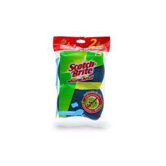 SCOTCH-BRITE® ฟองน้ำใยขัดสีน้ำเงินแอนตี้แบคทีเรีย Antibac Blue (ซื้อ 3 แถม 3)
