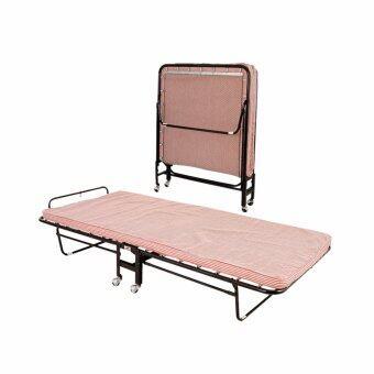 ISO เตียงนอนเสริม รุ่นพับได้ ขนาด 3 ฟุต รุ่น B106 สีแดง