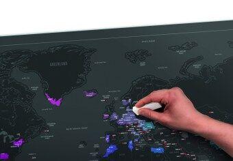 Scratch Map - Fun Trip Capitals Edition แผนที่โลก แบบขูดได้ บันทึกการเดินทาง