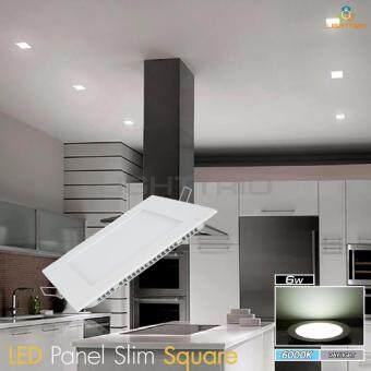 LIGHTTRIO LED SLIM PANEL แบบเหลี่ยม 6วัตต์ แสงขาว แพค 2 ชิ้น