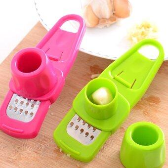 Harga 4ever 2pcs Ginger Garlic Press Grinding Grater Planer Slicer Mini Cutter Kitchen Accessories - intl