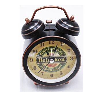 Startupนาฬิกาปลุก นาฬิกาตั้งโต๊ะ สไตล์วิเนเทจ ( ลายHeineken ) รุ่น AY8001