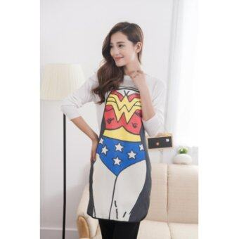 CHANEE ผ้ากันเปื้อนลาย Wonder woman สามมิติ สีสันสดใส ใส่ทำอาหารได้จริง หรือ สร้างสีสันให้งานปาร์ตี้ต่างๆ