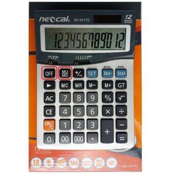 Neocal เครื่องคิดเลขมีปุ่มMU/MD Neocal New ND-431TD