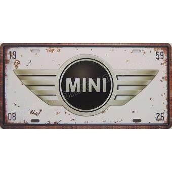 ป้ายสังกะสีวินเทจ Mini Austin Logo (ปั๊มนูน)