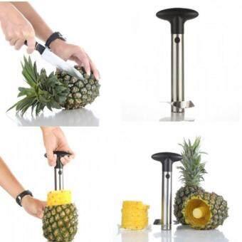 ที่ปอกเปลือก คว้าน แกน หั่นสับปะรด Pineapple Corer Slicer - Siver
