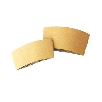 Goodwill ปลอกกระดาษลูกฟูก Size L สำหรับสวมแก้วพลาสติก PET 16/20/22 ออนซ์ 1,000อัน - Brown