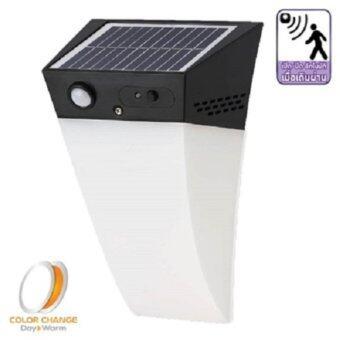 โคมผนัง โซล่าเซลล์ LED WSL-03 motion sensor 2in1 1w