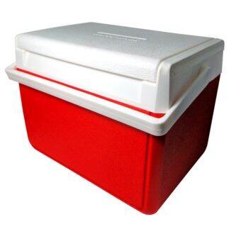 Thai Style กระติกน้ำแข็งปิกนิคขนาด 10 ลิตร แบบฝาสไลด์ สีแดง