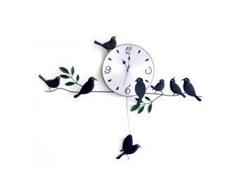 Coptertrend นาฬิกาแต่งผนัง little bird cz0070 (สีดำ)