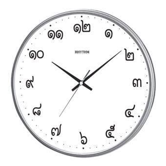 RHYTHM Japan นาฬิกาแขวนเครื่องเดินเรียบ ตัวเลขไทย แนววินเทจ ขนาด 12.5นิ้ว รุ่น CMG817EZ19