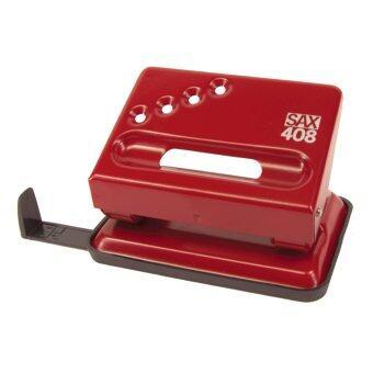 SAX เครื่องเจาะกระดาษ Compact (L) รุ่น 408 - Red