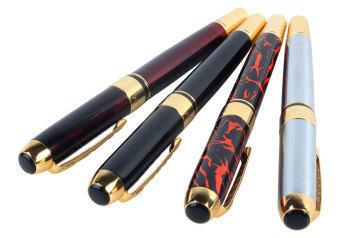 Leegoal 4ชิ้น Jinhao 250 ปากกาหมึกซึมอยู่ 4 สี