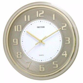 RHYTHM Japan นาฬิกาแขวนพลาสติก เครื่องเดินเรียบไร้เสียงรบกวน รุ่น CMG853NR