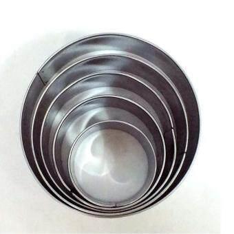 ชุดกดคุักกี้สเตนเลสรูปวงกลม 5 ขนาด 1 ชุด