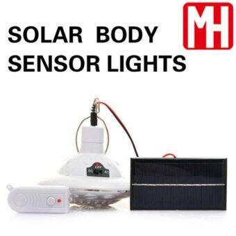 GOGOโคมไฟโซล่าเซลล์ ผนัง 22 LED พลังเเสงอาทิตย์ (เปิดปิดเอง)