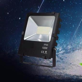 Light Farm โคมไฟสปอร์ตไลท์ Spot light led 100W แสงขาว white (Black) แพ็ค 1 ชุด