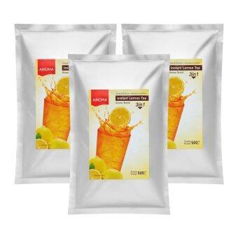 ชาปรุงสำเร็จกลิ่นเลม่อน Aroma (ชามะนาว 3in1 แพ็ค 3 ซอง)