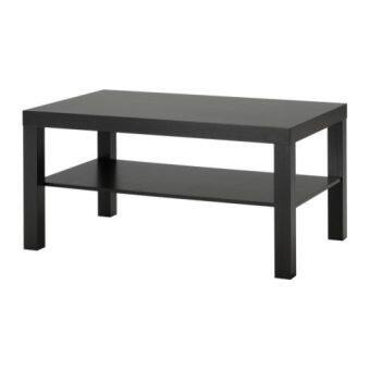 โต๊ะกลาง วางหน้าโซฟา โต๊ะรับแขก สีดำ ขนาด90x55x45ซม. Happy-T