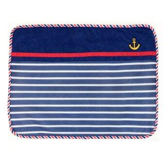 Pet Pirate ผ้ารองนอน รองกรง รองกระเป๋า ใช้ได้ 2 ด้าน สีน้ำเงิน