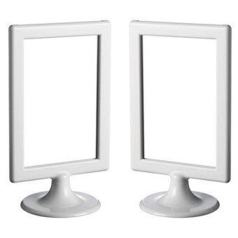 IKEA กรอบรูปใส สองหน้า 10x15cm 2 ชิ้น (สีขาว)
