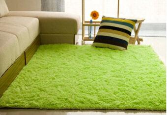 ขนกันลื่นพรมปูพื้น/ปูเสื่อ 80ซม x 120ซม (สีเขียว) - intl