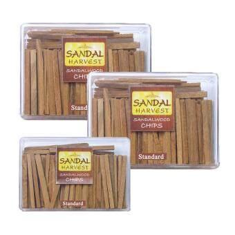 SandalHarvest ไม้จันทน์ ไม้หอมแก่นจันทร์ (แบบธรรมดา) ไม้จันทร์หอม หอมอโรม่า แท้ 100% ไม่มีน้ำหอม ไม่ไส่สี ไร้สารเคมี 250 g.