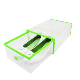 Replica Shop กล่องลิ้นชักเก็บรองเท้า (สีใส/เขียว)