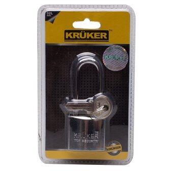 KRUKER กุญแจสปริงโครเมี่ยม 32mm. (คอยาว)